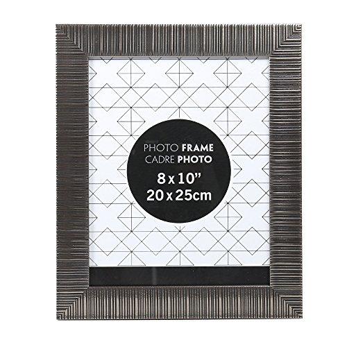 Textured Metal Frame (Truu Design, Textured Picture Frame, 8 x 10 inches, Gun Metal)
