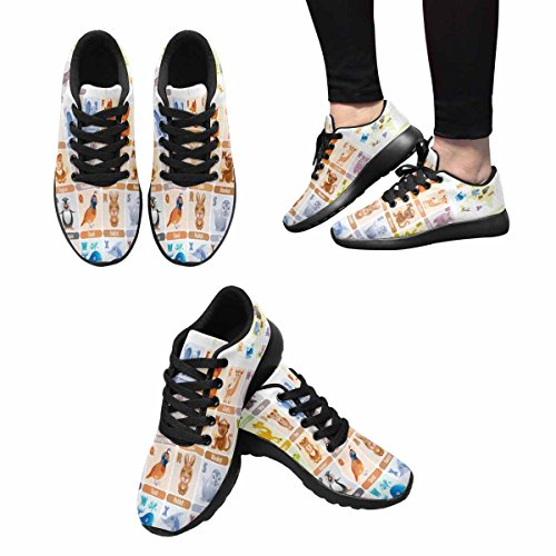 InterestPrint Womens Jogging Running Sneaker Lightweight Go Easy Walking Comfort Sports Running Shoes Multi 2 CJgbCH
