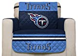 NFL Tennessee Titans Chair Reversible Furniture Protector with Elastic Straps, 75-inches by 65-inches