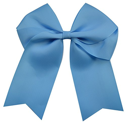 Glitter Lite Blue - Funny Girl Designs Extra Large Classic Uniform Cheer Bow - Choose Your Color! (Light Blue)