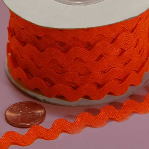 - 7MM X 25YD ORANGE RIC RAC TRIM