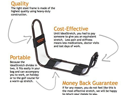 IdealStretch: The Most Effective Hamstring Stretching Aid | Excellent for Calf, Lower Back, Groin, IT Band and Hip Stretching | for Athletes + Physical Therapy + Rehab