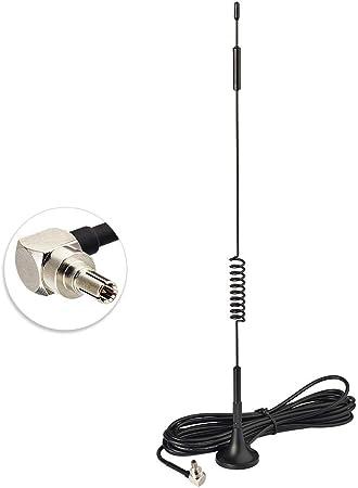 Bingfu CRC9 Antena 4G LTE 7 dBi Doble MIMO Antena Amplificadora de Señal de Base Magnética Compatible con Orange,Vodafone Movistar Netgear Huawei ...