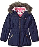 Joules Big Girls' Merrydale Padded Longline Coat, French Navy, 7
