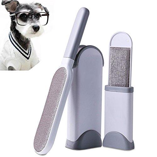 Pet Hair Remover, Piel y Removedor de la Pelusa Con Reutilizable de Autolimpieza Doble Cara Cepillo Excelente Para el Perro y...