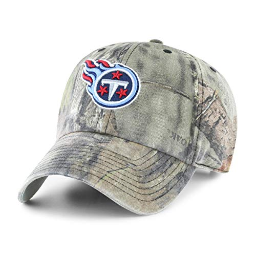 (OTS NFL Tennessee Titans Male Mossy Oak Challenger Adjustable Hat, Mossy Oak-Break Up Country, One Size)