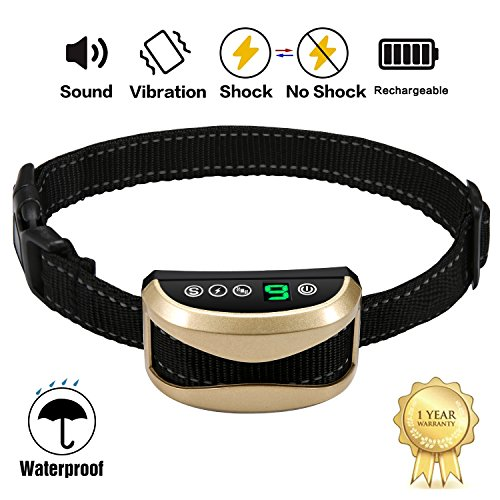 A+ Trainer [2019 Upgrade Version] Intelligent Dog No Bark Collars Upgrade 7 Sensitivity, USB Rechargeable Waterproof Dog Shock Collar with Vibration and No Harm Shock for Small Medium Large Dogs by A+ Trainer (Image #6)