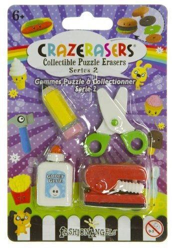 (Stationery Maniac (4 Mini-Erasers) - CrazErasers: Collectible Erasers Series #2)