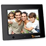 OXA 8-Inch 16G HD Digital Photo Frame with Built-in Storage Motion Sensor MP3 Player (Black)