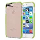 5,5 pulgadas para el iPhone caso, Para iPhone 7 Plus funda protectora TPU transparente de textura a cuadros (5,5 pulgadas) ( Color : Green )