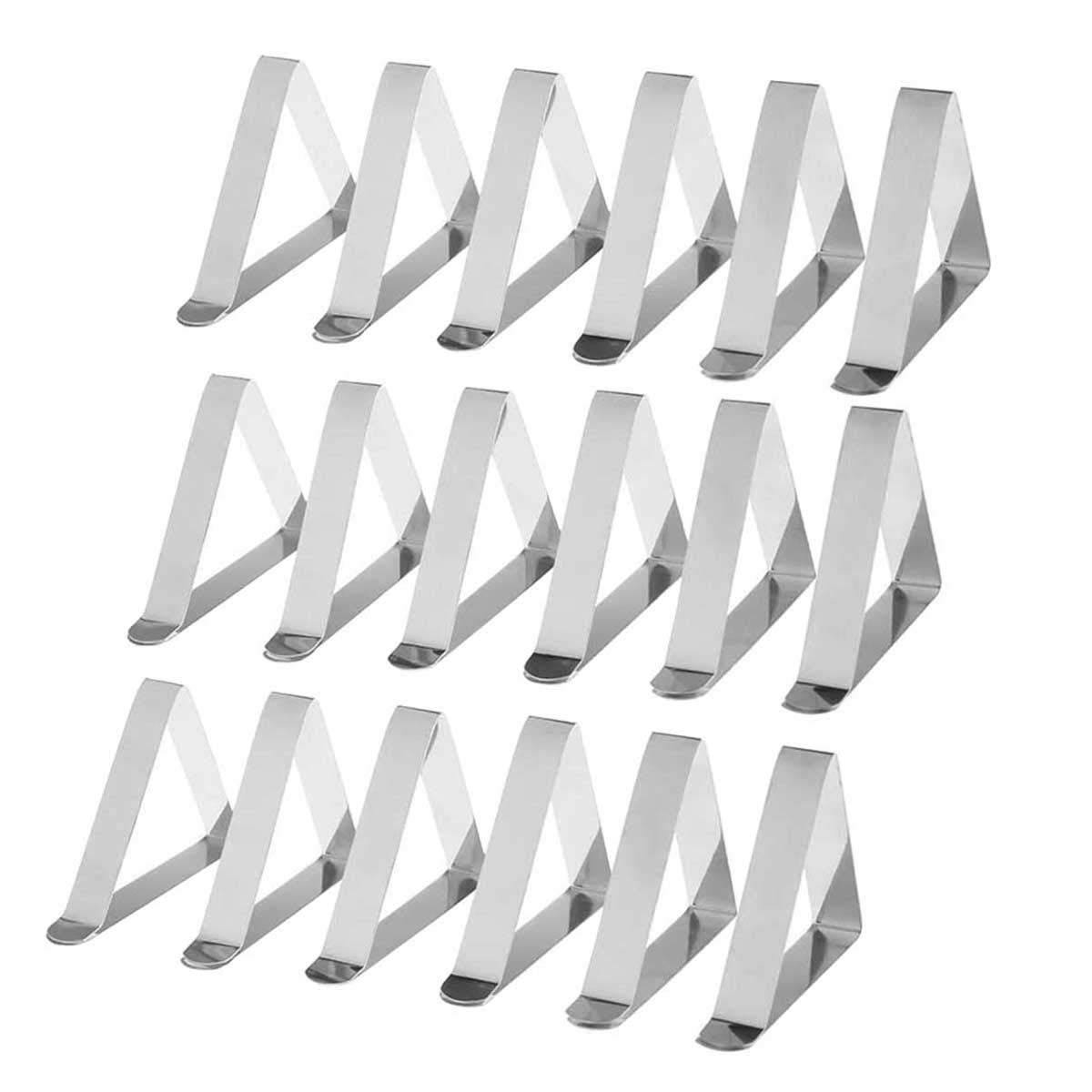 Sun Kea Picnic Tablecloth Clips Endurance Stainless Steel Outdoor Table Cover Clamps Adjustable Table Cloth Holders & Skirt Clip(25pcs)