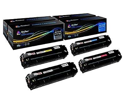Arthur Imaging Compatible Toner Cartridge Replacement for HP 131A CF210A, CF211A, CF212A, CF213A (Black, Cyan, Yellow, Magenta, 4-Pack)