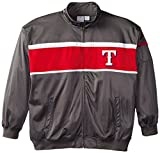 MLB Texas Rangers Men's Track Jacket, 4X-Large, Charcoal/Red