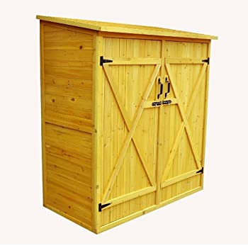leisure season medium storage shed solid wood decay resistant - Garden Sheds Wooden