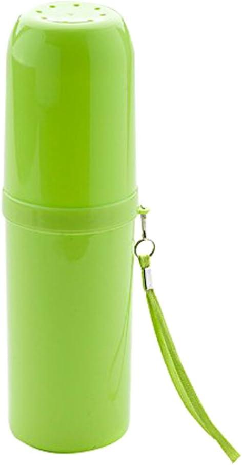 TININNA Moda Colore di Caramella Grande capacit/à Multifunzione Essentials di Viaggio Spazzolino Asciugamano stoccaggio Tazza Portaspazzolini Verde