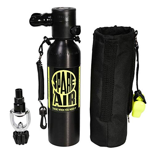 (Spare Air, 6.0 cu. ft. Package Holster Leash Refill Adapter Button Gauge & DXDiver Dive Flag)
