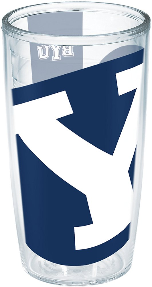 Clear 16oz Tervis 1258830 BYU Cougars Colossal Insulated Tumbler with Wrap