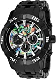 Invicta Men's 'Sea Spider' Quartz Stainless Steel and Polyurethane Casual Watch, Color:Black (Model: 26531)