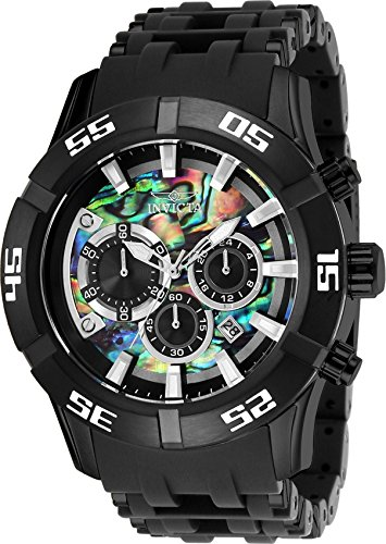 Invicta Men's 'Sea Spider' Quartz Stainless Steel and Polyurethane Casual Watch, Color Black (Model: 26531)