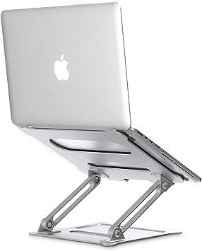 All Notebooks,Silver Ergonomic Riser Portable Holder for MacBook Pro Elekin Laptop Stand Aluminum Ventilated Stand