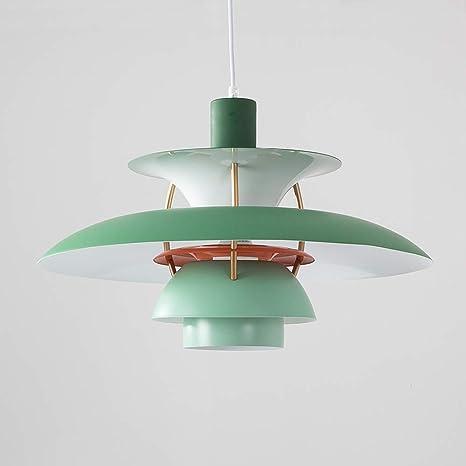 pretty nice fec2d 27e86 Samzim PH5 Pendant Light Replica, Denmark Design Hanging Light Fixture, Mid  Century (Hues of Green)