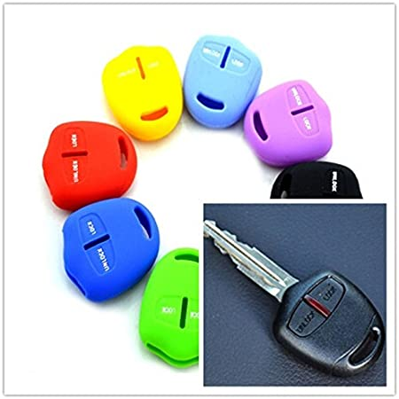 Silikon Tastaturabdeckung Für Mitsubishi Outlander Asx Colt Lancer Grandis Pajero Sport Schlüssel Schutz Fällen Autoschlüssel Aufkleber Gelb Auto
