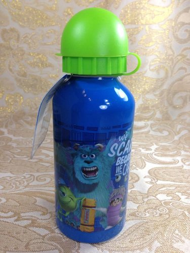 Licensed Kids School Lunch Sports Aluminium 14oz Water Bottle with Pull Top - Monster Inc.