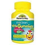 omega 3 australia - Nature's Way Kids Smart Vita Gummies Multi + Omega 50 Pastilles