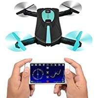 JY018 Foldable RC Quadcopter Drone WIFI FPV 2MP Camera Altitude Hold Headless Mode A Key Return Mini Helicopter