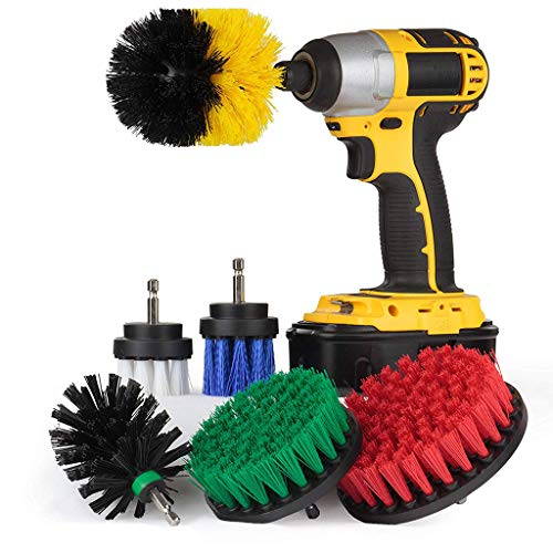 Euone  Drill Brush Kit Clearance Sale , 6Pcs Grout Power Scrubber Cleaning Brush Tub Cleaner Combo Tool Kit ()