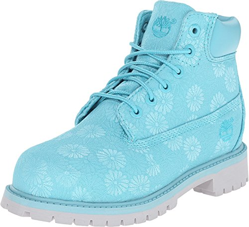 Timberland 6Inch Classic Boot Little Kids Style: TB0A197A-BLUE Floral Size: 1.5