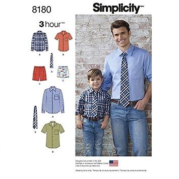 Simplicity Herren & Jungen leicht Schnittmuster 8180 Shirt, Boxer ...