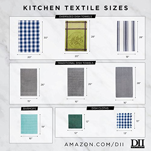DII Cotton Embroidered Blue Sea Dish Towels, 18 x 28'' Set of 3, Decorative Oversized Kitchen Towels for Everyday Cooking and Baking by DII (Image #5)