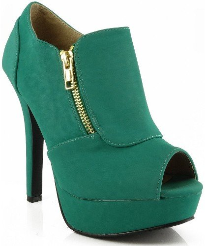 Women's Platform High Heel Peep Toe Ankle Boot Bootie Pumps