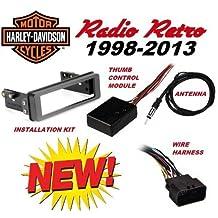 98-2013 Retro Harley Touring Stereo Radio Cd Install Adapter Dash Kit Flht Flhx Flhtc Road Street Electra Glide