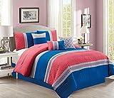 JABA USA 21129-King-Pink King Pink Comforter Set For Sale