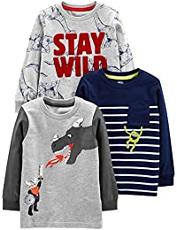 Toddler Boys' 3-Pack Graphic Long-Sleeve Tees