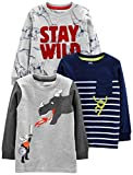 Simple Joys by Carter's Boys' Toddler 3-Pack Graphic Long-Sleeve Tees, Dino/Monster/Dragon 3T