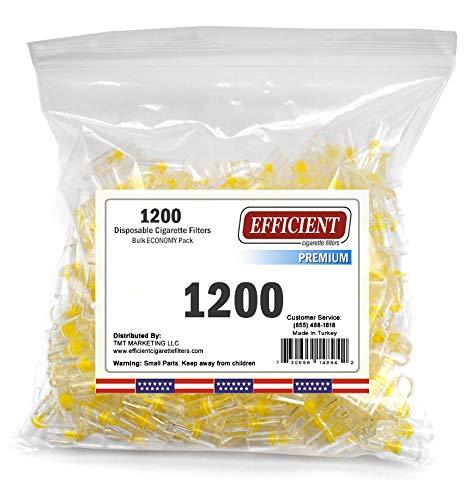 Efficient 4 Hole Disposable Premium Cigarette Filters - Bulk Economy Pack (1200)