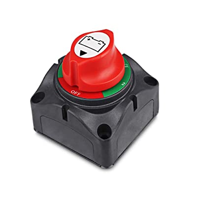 1-2-Both-Off Battery Switch 12V-60V Battery Disconnect Master Cut Shut Off for Marine Boat Car RV ATV Vehicle Heavy Duty Battery Isolator Switch: Automotive
