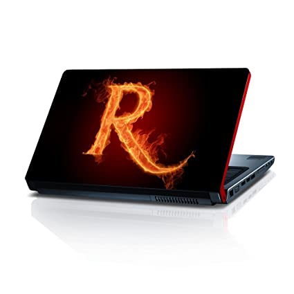 Shopmillions Letter R Vinyl Laptop Skin/Sticker/Cover/Decal Compatible for  Any 15.6 Inches Laptop(Hp/Dell/Sony/Acer/Lenovo/Asus. Etc) Or Notebook.
