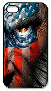 icasepersonalized Personalized Protective Case for iPhone 4/4S - American Flag Wolverine