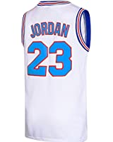 RAAVIN 23# Space Moive Jersey Squad Mens Basketball Jersey White S-XXXL (Medium)