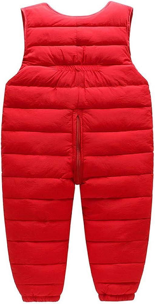 HOSD Childrens Warm bib Boys and Girls Cartoon Down Trousers