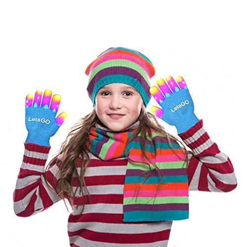 Light Up Gloves, Finger Light Flashing Led Gloves New Toys 2018 Christmas Toys 2018 for Girls Boys Fun Toys for 3-10 Year Old Kids Blue MMJSST02