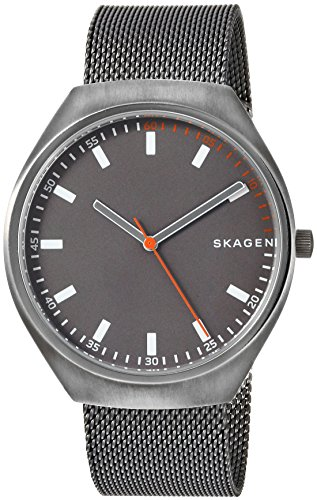Skagen Men's Grenen Titanium Analog-Quartz Watch with Stainless-Steel Strap, Grey, 20 (Model: SKW6387)