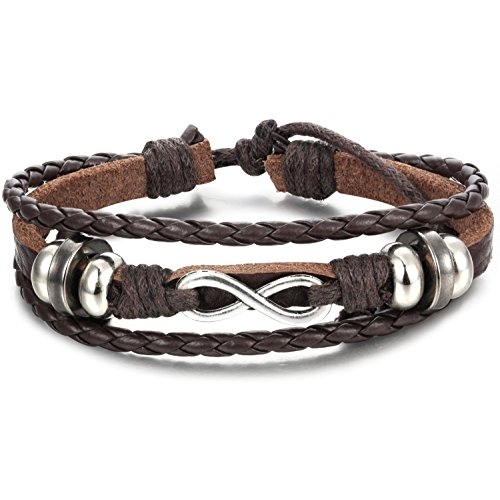 Besteel Genuine Leather Bracelet Adjustable