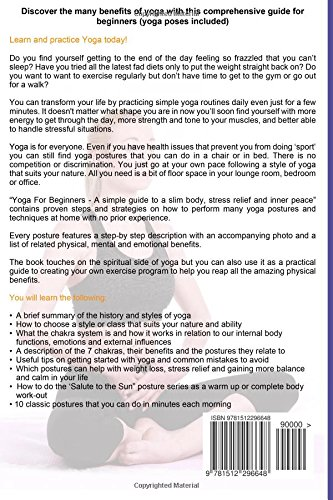 Yoga for beginners a simple guide to a slim body stress relief and yoga for beginners a simple guide to a slim body stress relief and inner peace nicole talbot barney douglas 9781512296648 amazon books solutioingenieria Images