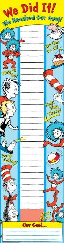 Thermometer Giant Classroom (Eureka Dr. Seuss Back to School Classroom Supplies Goal Setting Fundraising Banner, 12'' x 45'')
