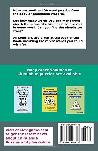 chihuahua nine letter word puzzles volume 12 alan walker 9781986108133 amazoncom books